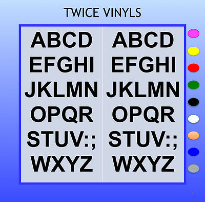 SELF ADHESIVE LETTERS stickers graphics Penstyle 20mm OR 25mm high alphabet set